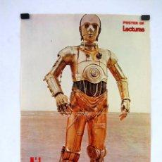 Cine: STAR WARS. C-3PO. POSTER Nº 1 DE LA REVISTA LECTURAS. 31X47 CMS.. Lote 121363135