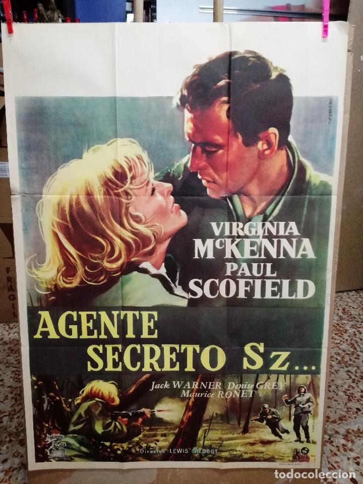 Cine: AGENTE SECRETO SZ... VIRGINIA MCKENNA-PAUL SCOFIELD. CARTEL ORIGINAL 1959. 70X100 - Foto 1 - 121453427