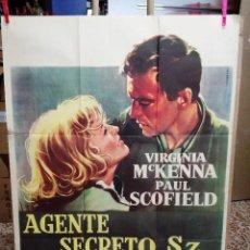 Cine: AGENTE SECRETO SZ... VIRGINIA MCKENNA-PAUL SCOFIELD. CARTEL ORIGINAL 1959. 70X100. Lote 121453427