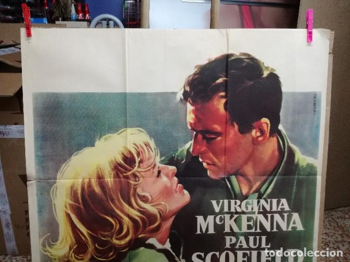 Cine: AGENTE SECRETO SZ... VIRGINIA MCKENNA-PAUL SCOFIELD. CARTEL ORIGINAL 1959. 70X100 - Foto 2 - 121453427