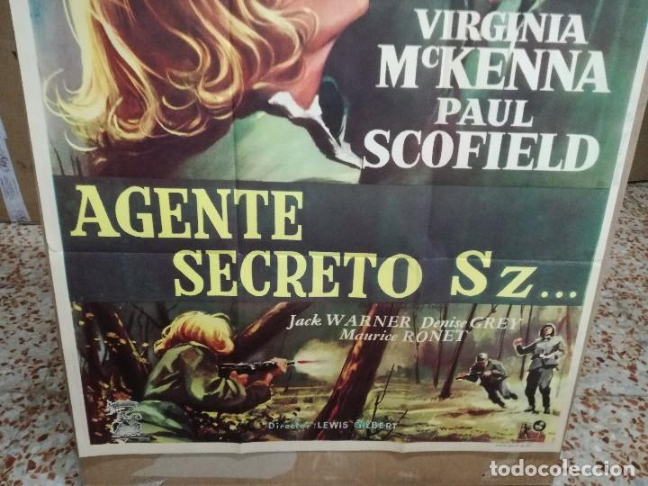 Cine: AGENTE SECRETO SZ... VIRGINIA MCKENNA-PAUL SCOFIELD. CARTEL ORIGINAL 1959. 70X100 - Foto 3 - 121453427