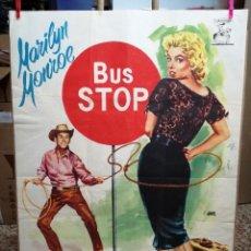 Cine: BUS STOP- MARILYN MONROE , DON MURRAY- ESTRENO- POSTER ORIGINAL A COLOR DE 1958 , MEDIDAS:100X70 CM. Lote 121453783