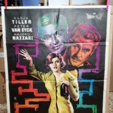 Cine: CARTEL DE CINE ORIGINAL DE LA PELÍCULA LABERINTO, 1962, 70 POR 100CM. Lote 121454303