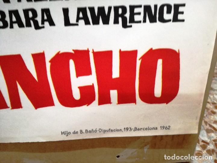 Cine: SANGRE EN EL RANCHO. JEFF CHANDLER-ORSON WELLES. CARTEL ORIGINAL 1962. 100X70 - Foto 4 - 121455663