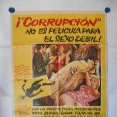 Cine: CORRUPCION - CARTEL ORIGINAL 70 X 100. Lote 121661775