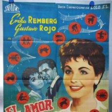 Cine: EL AMOR EMPIEZA EN SABADO. ERIKA REMBERG, GUSTAVO ROJO.. Lote 121694019