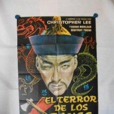 Cine: EL TERROR DE LOS TONGS - CARTEL ORIGINAL 70 X 100. Lote 121811607