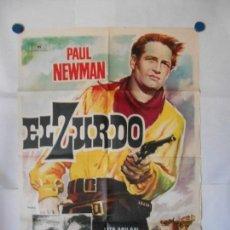 Cine: EL ZURDO - CARTEL ORIGINAL 70 X 100. Lote 121813063