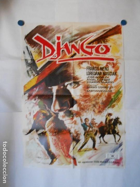 DJANGO - CARTEL ORIGINAL 70 X 100 (Kino - Poster und Plakate - Western)