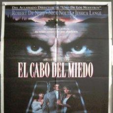 Cine: YQ99 EL CABO DEL MIEDO MARTIN SCORSESE ROBERT DE NIRO POSTER ORIGINAL 70X100 ESTRENO. Lote 121845207