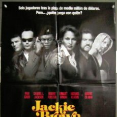 Cine: YR02 JACKIE BROWN TARANTINO PAM GRIER ROBERT DE NIRO POSTER ORIGINAL 70X100 ESTRENO. Lote 121847087