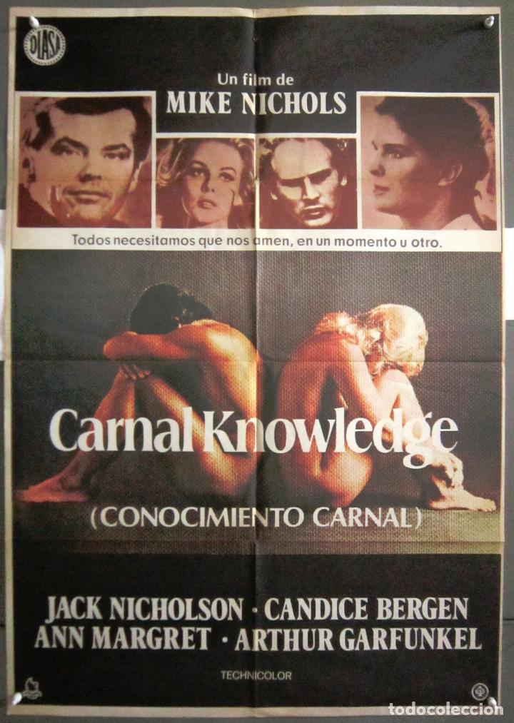 YR07 CONOCIMIENTO CARNAL JACK NICHOLSON ANN MARGRET POSTER ORIGINAL 70X100 ESTRENO (Cine- Posters y Carteles - Drama)