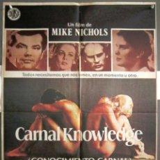 Cine: YR07 CONOCIMIENTO CARNAL JACK NICHOLSON ANN MARGRET POSTER ORIGINAL 70X100 ESTRENO. Lote 121847743