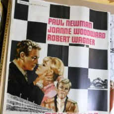 Cine: CARTEL ORIGINAL CINE 500 MILLAS PAUL NEWMAN JOANNE WOODWARD ROBERT WAGNER. Lote 121849839