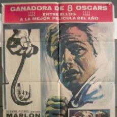 Cine: YP99 LA LEY DEL SILENCIO MARLON BRANDO ELIA KAZAN POSTER ORIGINAL 70X100 ESPAÑOL. Lote 121850415