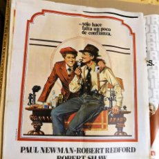 Cine: CARTEL ORIGINAL CINE EL GOLPE PAUL NEWMAN ROBERT REDFORD ROBERT SHAW. Lote 121850431