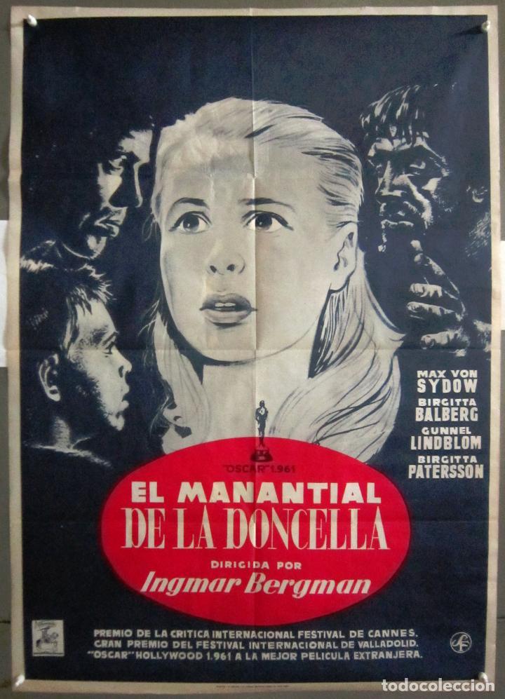 YN89D EL MANANTIAL DE LA DONCELLA INGMAR BERGMAN POSTER ORIGINAL 70X100 ESTRENO (Cine- Posters y Carteles - Drama)