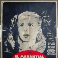 Cine: YN89D EL MANANTIAL DE LA DONCELLA INGMAR BERGMAN POSTER ORIGINAL 70X100 ESTRENO. Lote 121859363