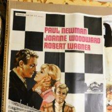 Cine: CARTEL ORIGINAL CINE 500 MILLAS PAUL NEWMAN JOANNE WOODWARD ROBERT WAGNER. Lote 121870867