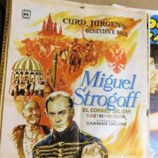Cine: CARTEL ORIGINAL CINE MIGUEL STROGOFF CURD JURGENS EL CORREO DEL ZAR. Lote 121888663