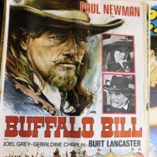 Cine: CARTEL ORIGINAL CINE BUFFALO BILL PAUL NEWMAN BURT LANCARTES GERALDINE CHAPLIN. Lote 121889363