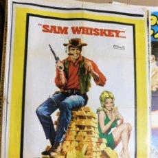 Cine: CARTEL ORIGINAL CINE SAM WHISKEY BURT REYNOLDS CLINT WALKER OSSIE DAVIS. Lote 121889803