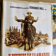 Cine: CARTEL ORIGINAL CINE Y DESPUES LE LLAMARON EL MAGNIFICO TERENCE HILL ALBERTO GRIMALDI. Lote 121890019