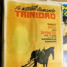 Cine: CARTEL ORIGINAL CINE LE SEGUIAN LLAMANDO TRINIDAD TERENCE HILL BUD SPENCER. Lote 121890343