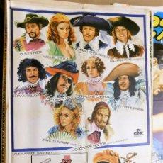 Cine: CARTEL ORIGINAL CINE LOS 4 MOSQUETEROS RICHARD CHAMBERLAIN CHRISTOPHER LEE CHARLTON HESTON. Lote 121892051