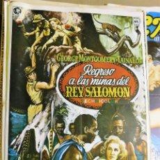 Cine: CARTEL ORIGINAL CINE REGRESO A LAS MINAS DEL REY SALOMON GEORGE MONTGOMERY TAINA ELG. Lote 121892907