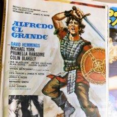 Cine: CARTEL ORIGINAL CINE ALFREDO EL GRANDE DAVID HEMMINGS MICHAEL YORK PRUNELLA RANSOME COLIN BLAKELY. Lote 121893303