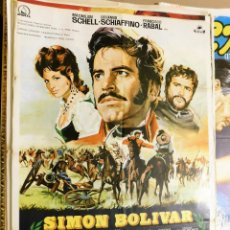 Cine: CARTEL ORIGINAL CINE SIMON BOLIVAR MAXIMILIAN SCHELL ROSANNA SCHIAFFINO FRANCISCO RABAL. Lote 121893515