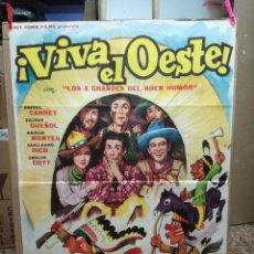 Cine: VIVA EL OESTE-RAFAEL CARRET POSTER ORIGINAL 70X100 ESTRENO. Lote 121900739