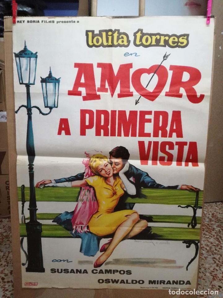 AMOR A PRIMERA VISTA- LOLITA TORRES SUSANA CAMPOS POSTER ORIGINAL 70X100 ESTRENO (Cine - Posters y Carteles - Clasico Español)