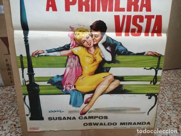 Cine: AMOR A PRIMERA VISTA- LOLITA TORRES SUSANA CAMPOS POSTER ORIGINAL 70X100 ESTRENO - Foto 2 - 121901251
