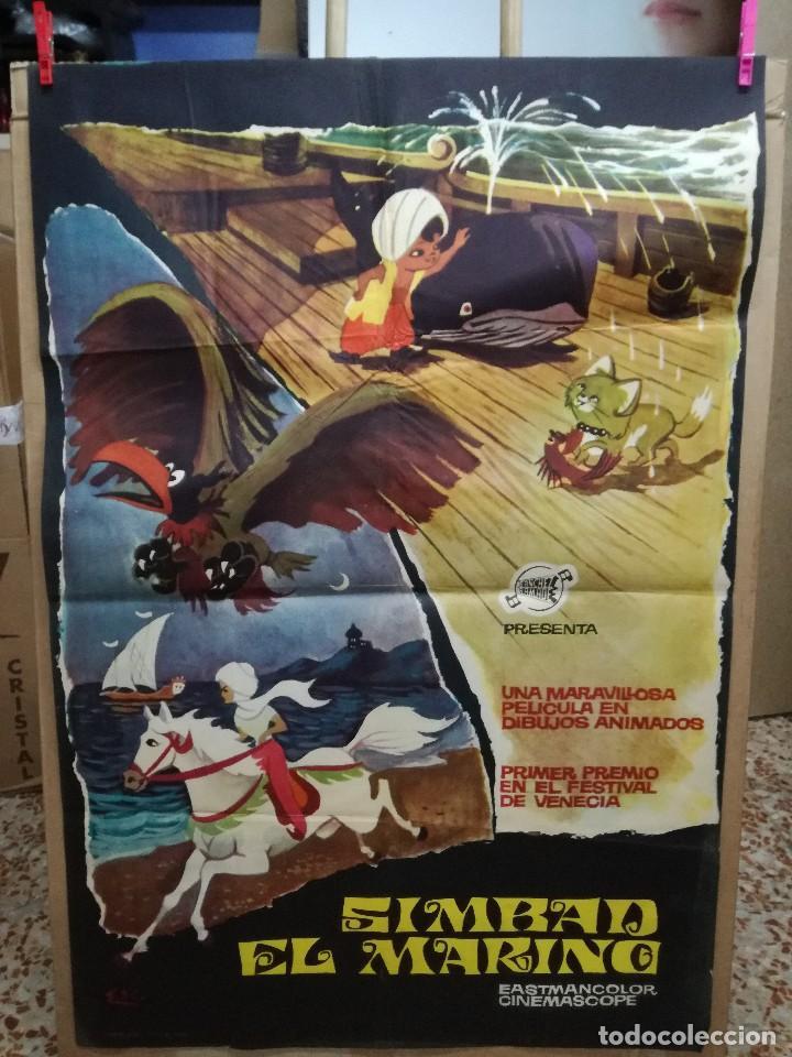 SIMBAD EL MARINO TOEI ANIMACION JAPONESA POSTER ORIGINAL 70X100 ESTRENO AÑO 1964 (Cine - Posters y Carteles - Infantil)