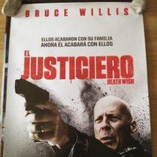 Cine: EL JUSTICIERO - APROX 70X100 CARTEL ORIGINAL CINE (L57). Lote 121924283