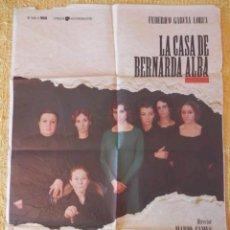 Cine: PÓSTER CARTEL DE CINE LA CASA DE BERNARDA ALBA. Lote 121953191