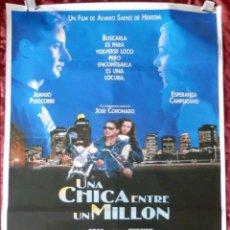 Cine: PÓSTER CARTEL DE CINE UNA CHICA ENTRE UN MILLÓN. Lote 121964312