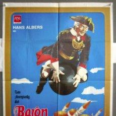 Cine: YQ85 LAS AVENTURAS DEL BARON DE MUNCHAUSEN HANS ALBERS POSTER ORIGINAL ESPAÑOL 70X100. Lote 121965603
