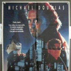 Cine: YQ84 BLACK RAIN MICHAEL DOUGLAS ANDY GARCIA RIDLEY SCOTT POSTER ORIGINAL 70X100 ESTRENO. Lote 121965959