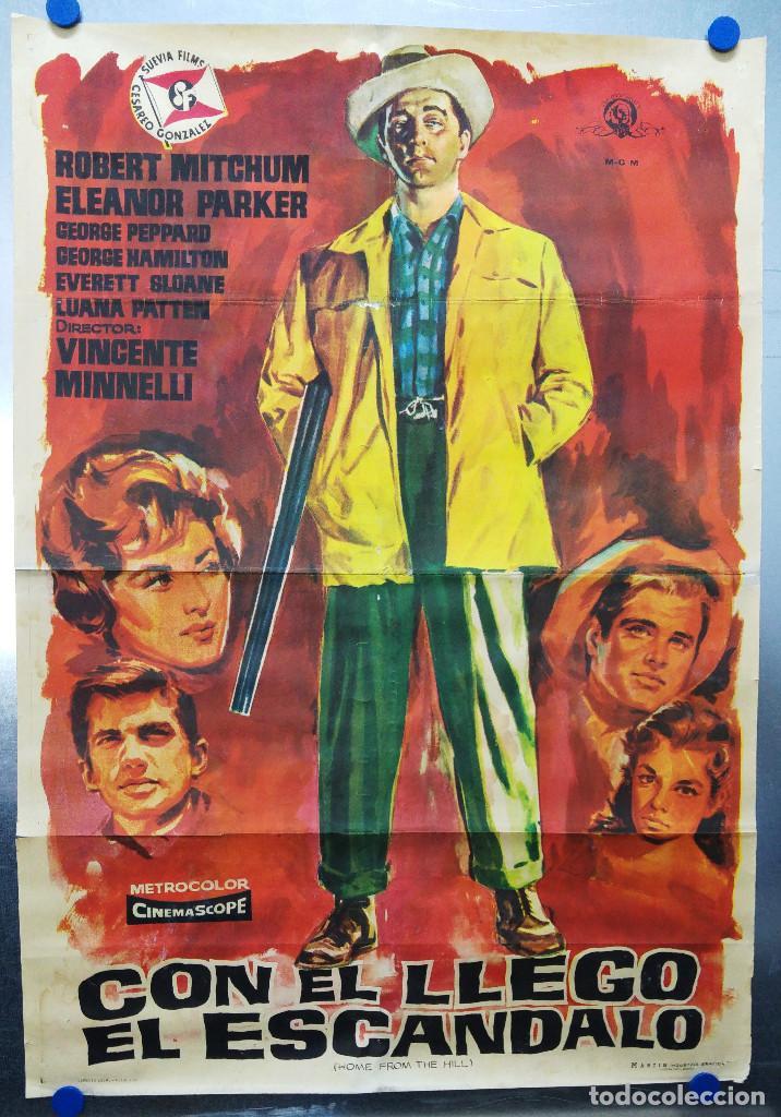 CON EL LLEGO EL ESCANDALO. ROBERT MITCHUM, ELEANOR PARKER, GEORGE HAMILTON. AÑO 1961 (Cine - Posters y Carteles - Westerns)