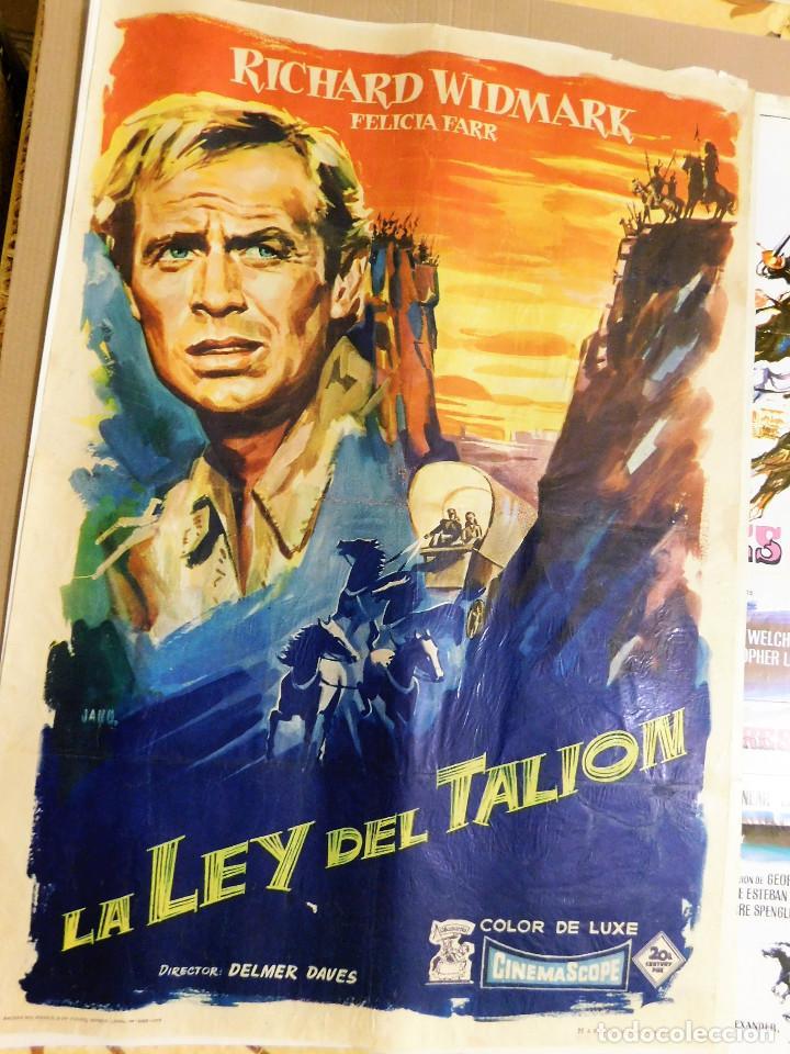 CARTEL ORIGINAL CINE LA LEY DEL TALION RICHARD WIDMARK (Cine - Posters y Carteles - Acción)