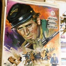 Cine: CARTEL ORIGINAL CINE MAYOR DUNDEE CHARLTON HESTON RICHARD HARRIS SENTA BERGER. Lote 122012275