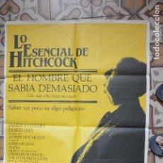 Cine: CARTEL CINE EL HOMBRE QUE SABIA DEMASIADO. Lote 122092507