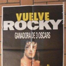 Cine: CARTEL POSTER CINE VUELVE ROCKY. Lote 122100259