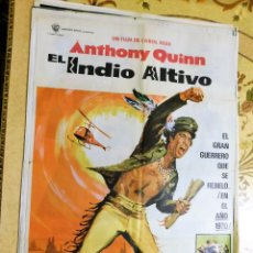 Cine: CARTEL ORIGINAL CINE EL INDIO ALTIVO ANTHONY QUINN. Lote 122647311