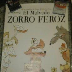 Cine: POSTER ORIGINAL EL MALVADO ZORRO FEROZ 100X70. Lote 122798274