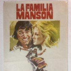 Cine: LA FAMILIA MANSON - CARTEL POSTER ORIGINAL - RAREZA NO TIENE CREDITOS TECNICOS NI DISTRIBUIDORA. Lote 122864055