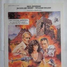 Cinéma: CARTEL CINE, EL DIA DEL FIN DEL MUNDO, PAUL NEWMAN, 1980, C-349. Lote 122937551